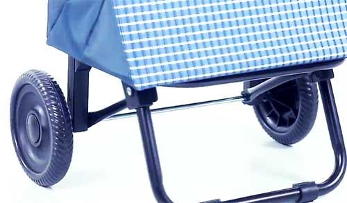 ремонт колеса у сумки тележки