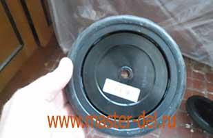 ремонт сумки тележки:сборка колеса - главный вид